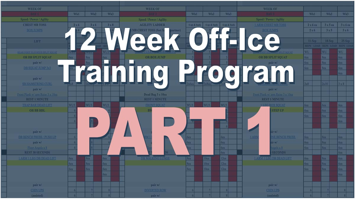 Off ice training program for hockey players - Part #1