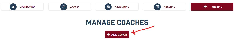 Add Coach Button