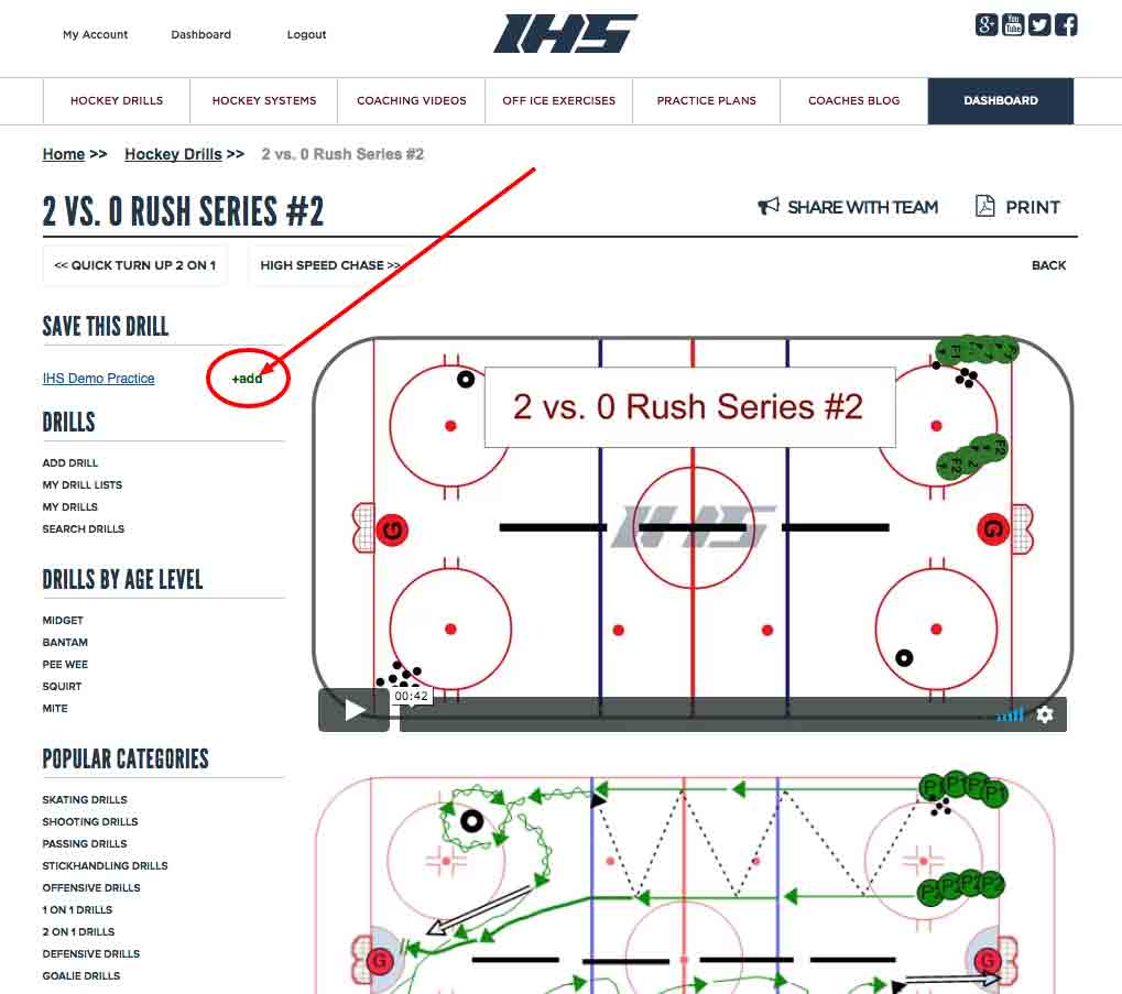 Add hockey drill to practice