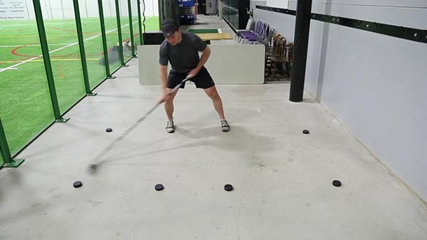 Basic Stickhandling Hip Width Apart - Outside Reach
