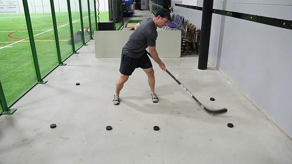 Basic Stickhandling - Backhand Side Lateral - In Tight