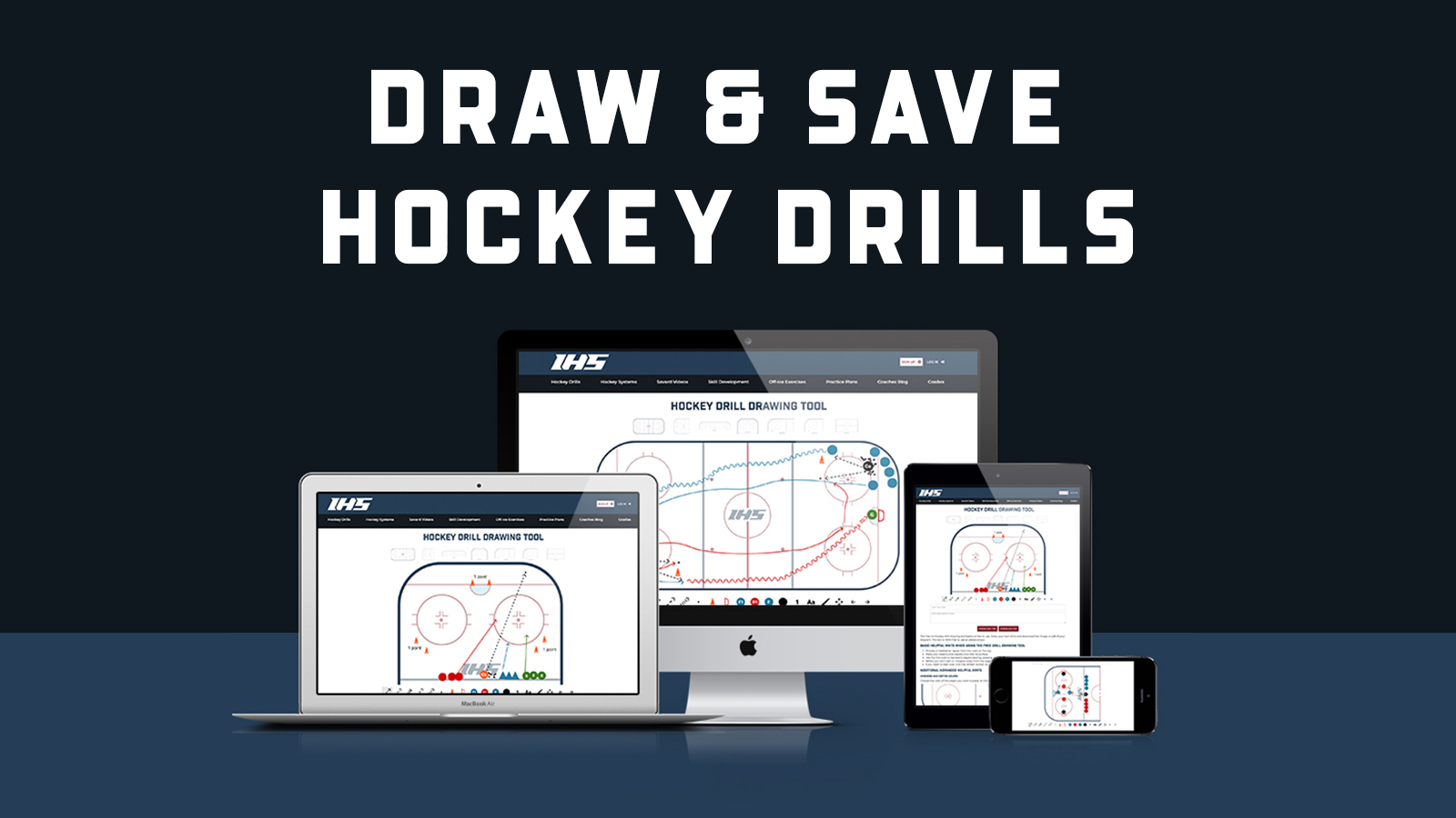 Draw and Save Hockey Drills on IHS