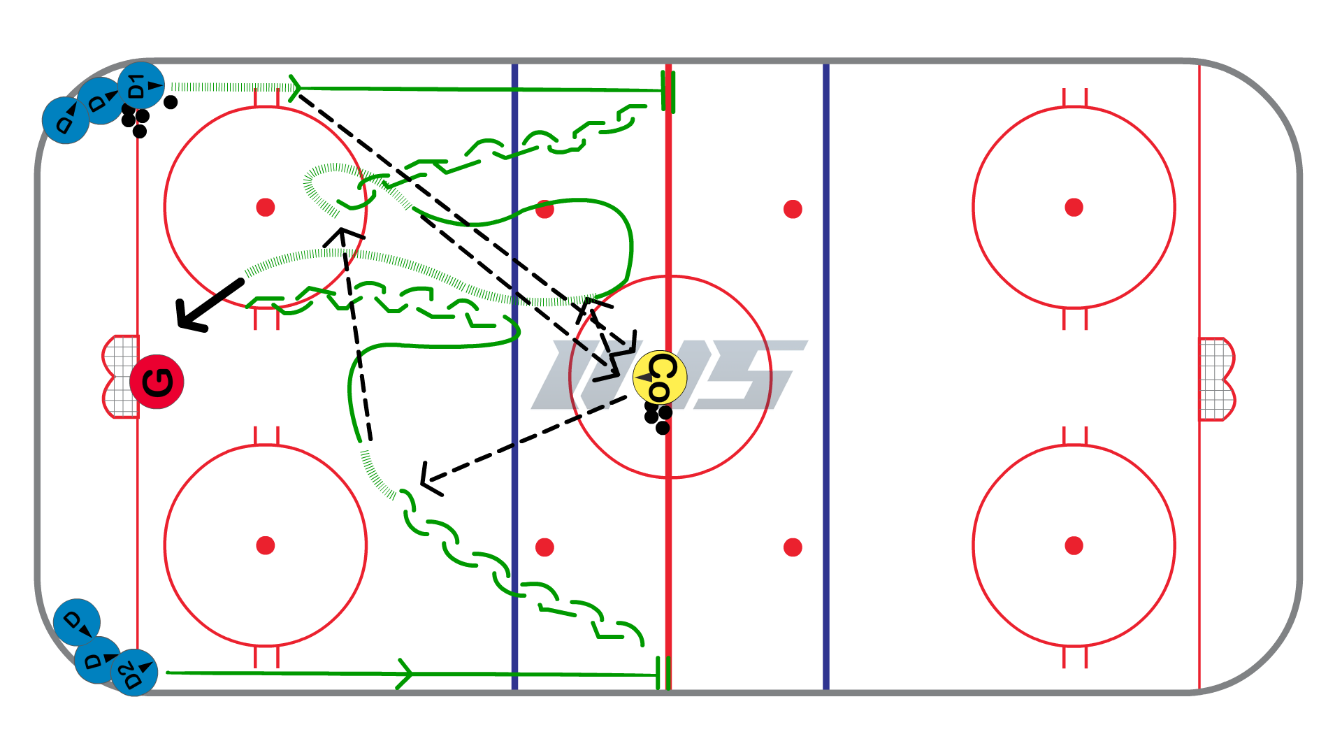 D to D Up Half Ice 1 vs 1