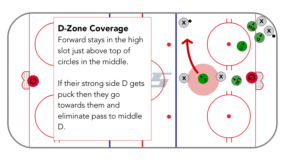 Full Ice 1-3-1 D-zone for the Forward