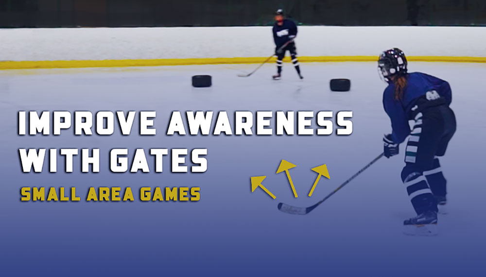 Improve Hockey Awareness with Gates Small Area Games