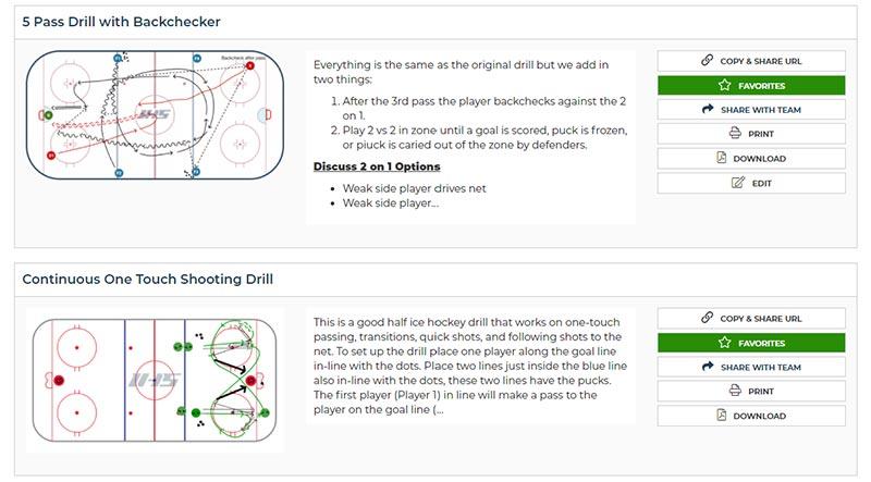 organize hockey drills