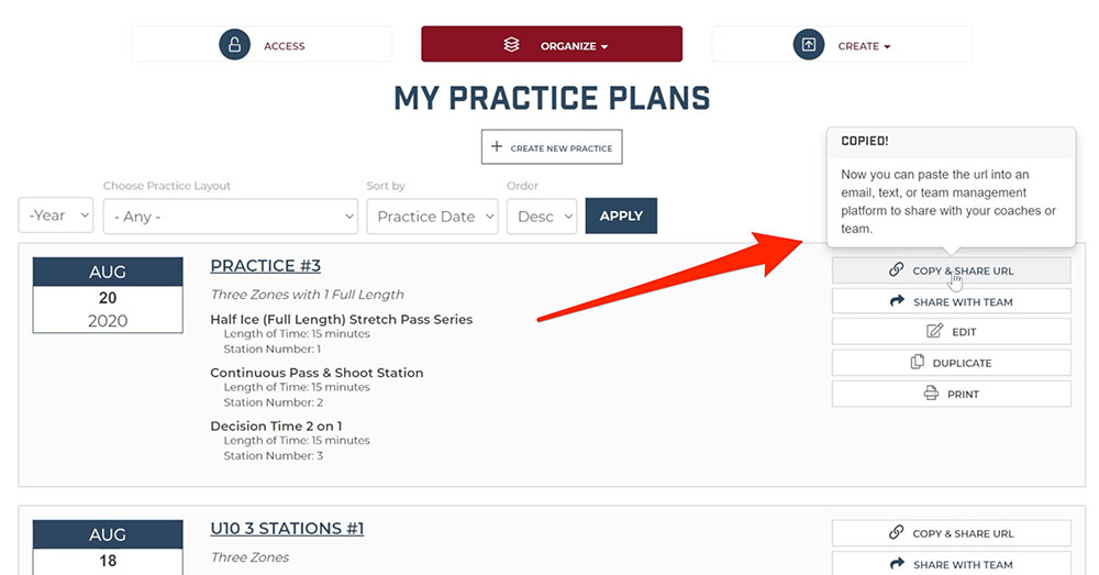 Share Hockey Practice Plans