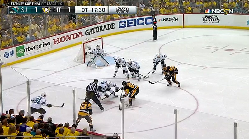 Sheary's Overtime Game Winning Goal in Stanley Cup