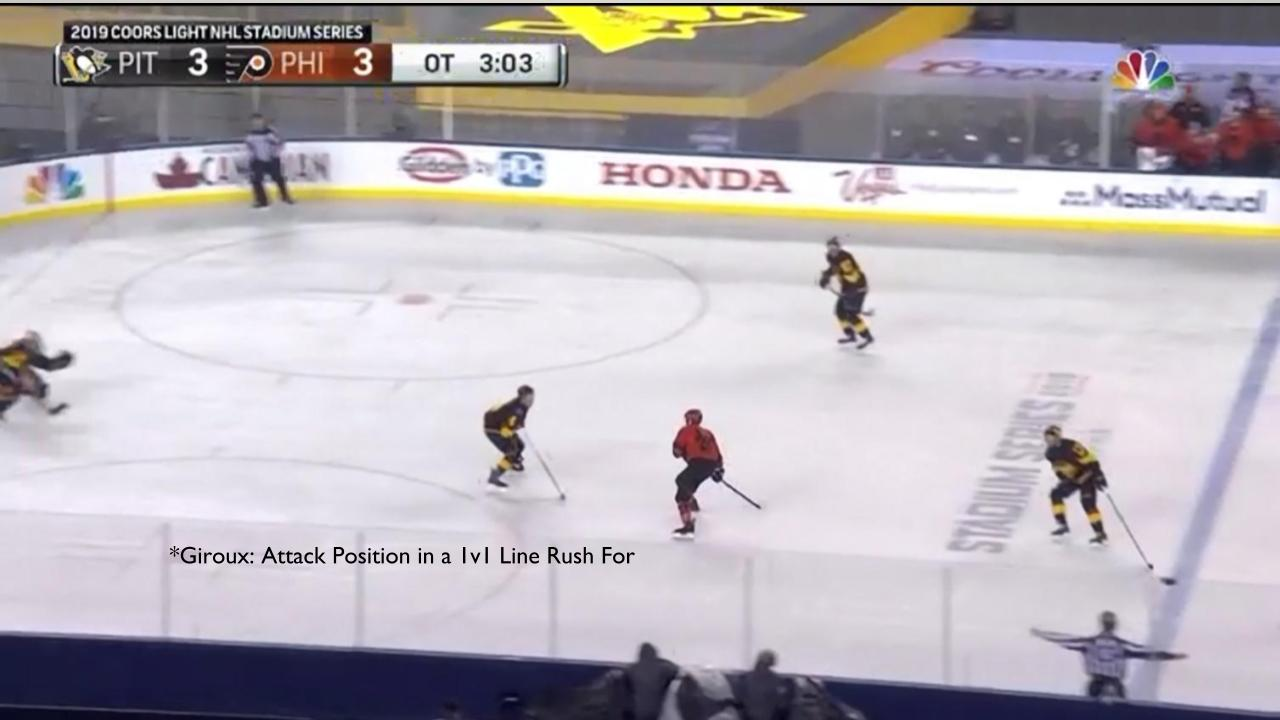 Giroux in attack position