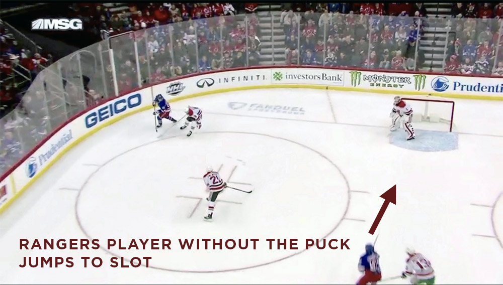 Rangers Playing Without The Puck