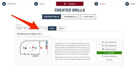 Add Categories To Your Hockey Drills