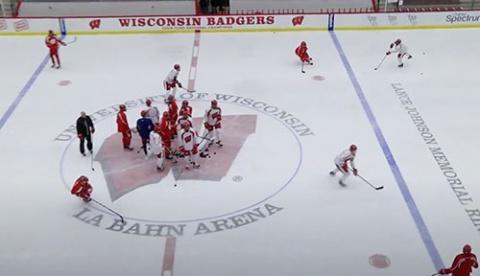 Lulea Neutral Zone Forecheck Warm Up Hockey Drill