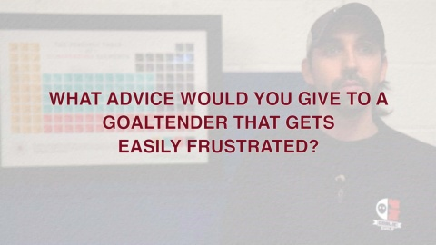 Advice For Ice Hockey Goalies Who Get Frustrated