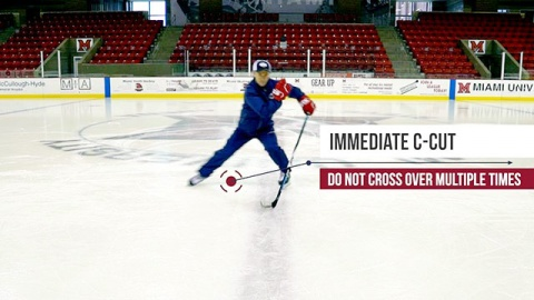 Backwards Crossover Start in Ice Hockey