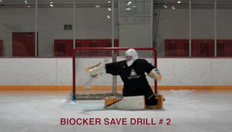 Blocker Save Drill # 2 - Ice Hockey Goalie Drill