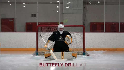 Butterfly Drill # 1 - Ice Hockey Goalie Drill