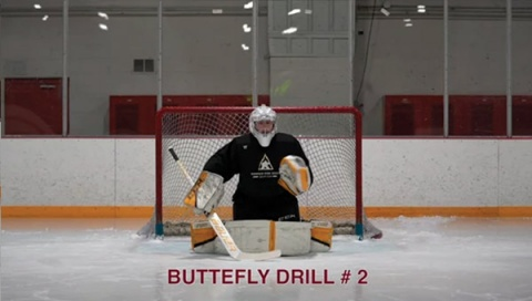 Butterfly Drill # 2 - Ice Hockey Goalie Drill