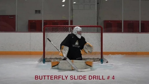Butterfly Slide Drill # 4 - Ice Hockey Goalie Drill