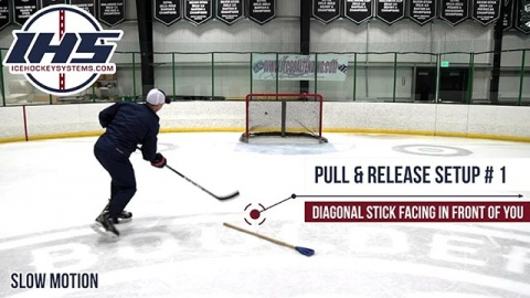 Changing the angle of your shot in hockey