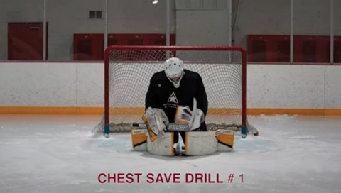 Chest Save Drill # 1 - Ice Hockey Goalie Drill