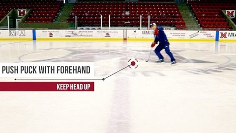 Forehand Only Puck Control - Ice Hockey Skill Development