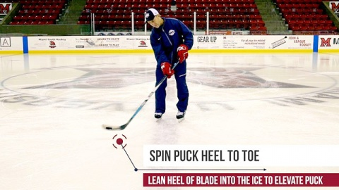 Forehand Saucer Pass in Ice Hockey
