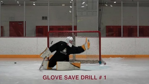 Glove Save Drill # 1 - Ice Hockey Goalie Drill