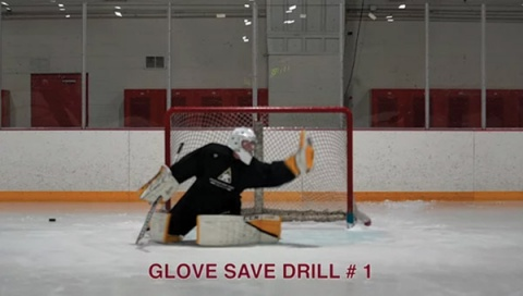 Glove Save Drill # 2 - Ice Hockey Goalie Drill