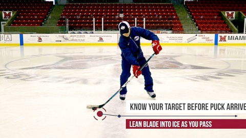 One Touch Pass in Ice Hockey