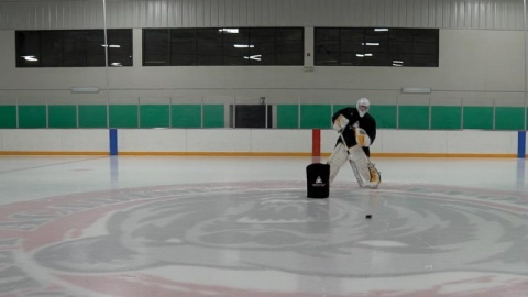 Passing & Puck Handling Progression - Goalie Training