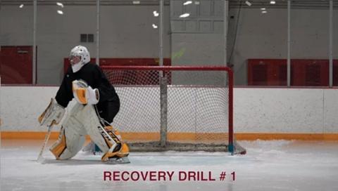 Recovery Drill # 1 - Ice Hockey Goalie Drill
