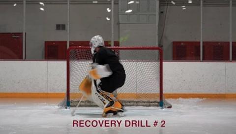 Recovery Drill #2 - Ice Hockey Goalie Drill