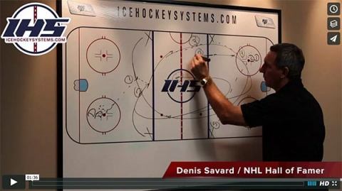 Seven Pass 2 on 1 Hockey Drill
