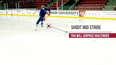 Shooting in Stride - Ice Hockey Skill