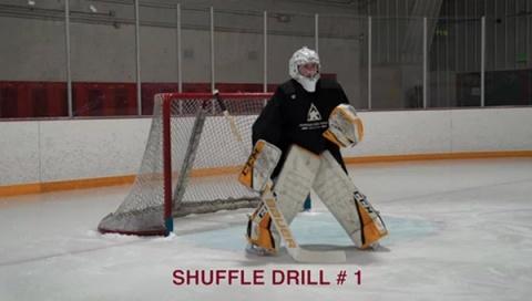 Shuffle Drill # 1 - Ice Hockey Goalie Drill