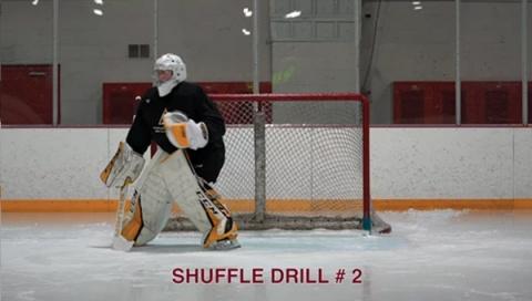 Shuffle Drill #2 - Ice Hockey Goalie Drill