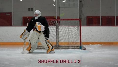 Shuffle Drill #3 - Ice Hockey Goalie Drill