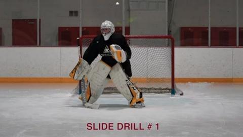 Slide Drill # 1 - Ice Hockey Goalie Drill