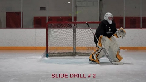 Slide Drill # 2 - Ice Hockey Goalie Drill