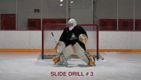 Slide Drill # 3 - Ice Hockey Goalie Drill