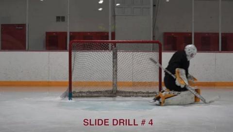 Slide Drill # 4 - Ice Hockey Goalie Drill