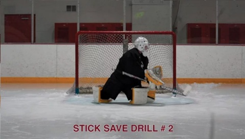 Stick Save Drill # 2 - Ice Hockey Goalie Drill