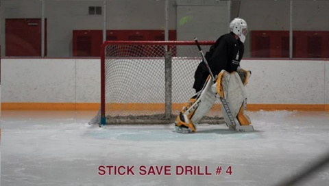 Stick Save Drill # 4 - Ice Hockey Goalie Drill