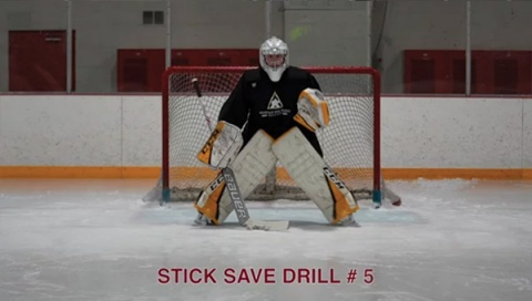 Stick Save Drill # 5 - Ice Hockey Goalie Drill