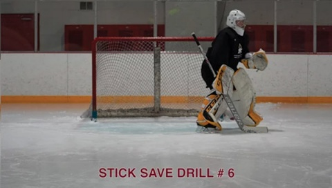 Stick Save Drill # 6 - Ice Hockey Goalie Drill