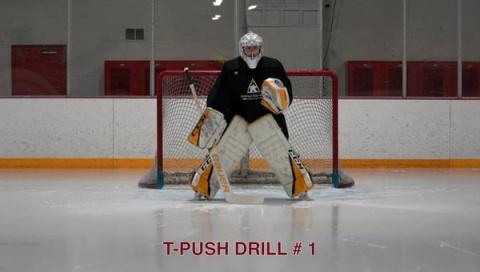 T-Push Drill # 1 - Goalie Drill