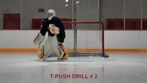 T-Push Drill # 2 - Goalie Training