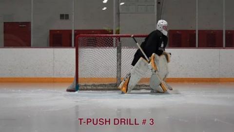 T-Push Drill # 3 - Ice Hockey Goalie Drill