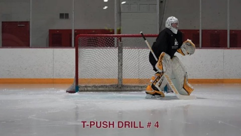 T-Push Drill # 4 - Ice Hockey Drill
