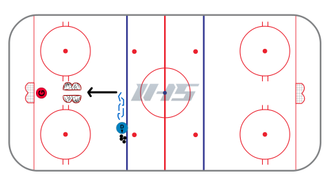 Find the Lane Hockey Shooting Drill